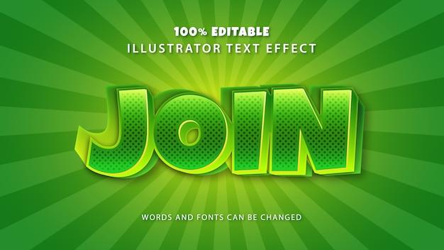 Word lid van tekststijleffect, bewerkbare tekst