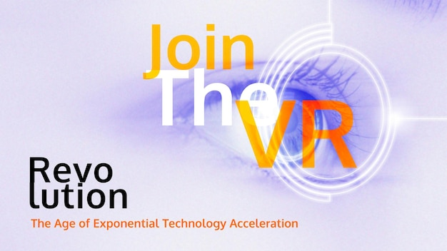 Word lid van vr-sjabloon vector futuristische technologie