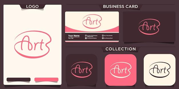 Word mark art logo ontwerp inspiratie