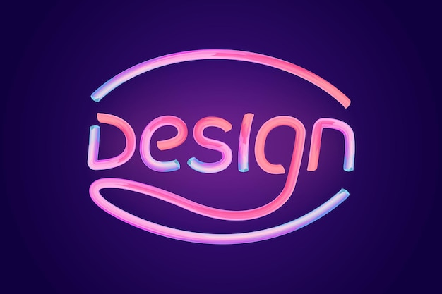 Word ontwerp glanzend roze lettertype typografie vector illustratie d zeepbel lettertype met glint Premium Vector
