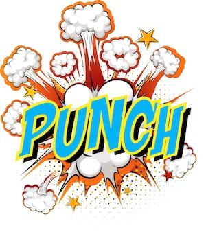 Word punch op komische wolk
