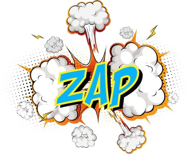 Word zap op komische wolk