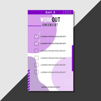 Workout checklist sjabloon