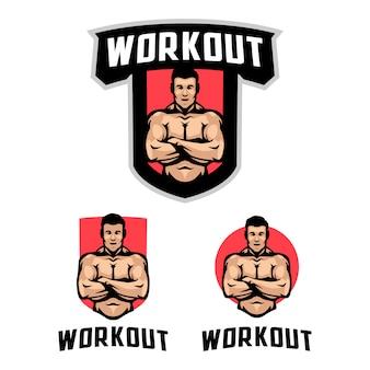 Workout fitness logo