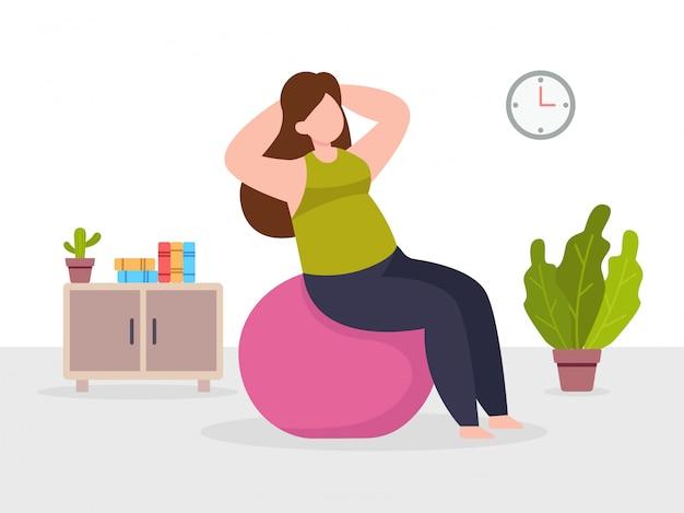 Workout thuis illustratie