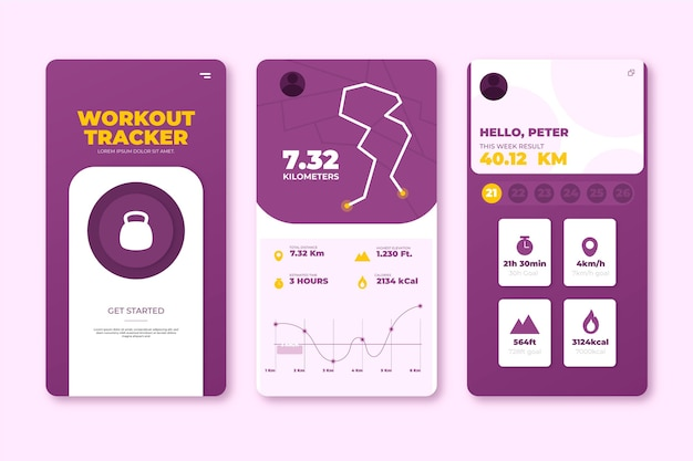Workout tracker app-concept
