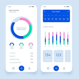 Workout tracker app-verzameling