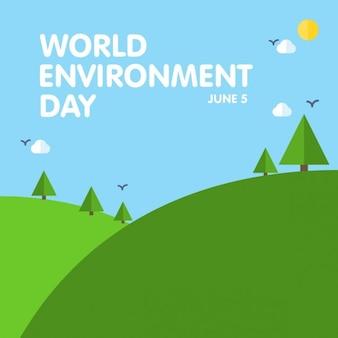 World environment day landschap
