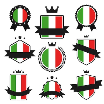 World flags series, vlag van italië.