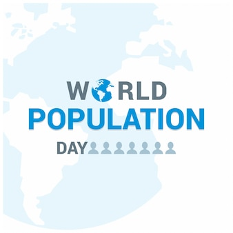 World population day lettering