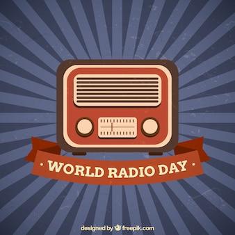 World radio dag uitstekende achtergrond