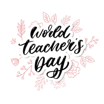 World teacher's day belettering kalligrafie