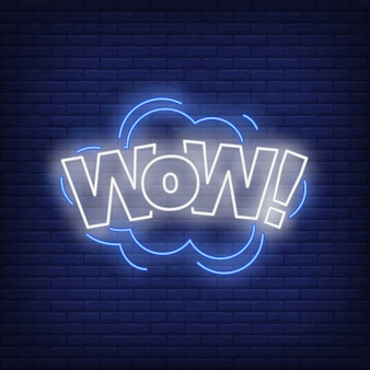 Wow belettering neonbord