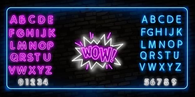 Wowneon-bord