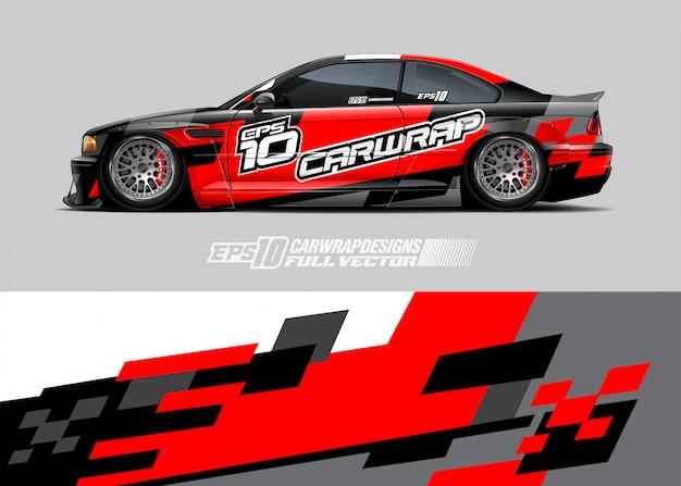 Wrap ontwerpen voor racewagens