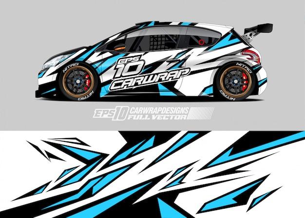 Wrap sticker ontwerpen voor racewagens