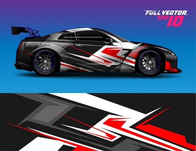 Wrap sticker racewagen, kit voor het inpakken van alle voertuigen