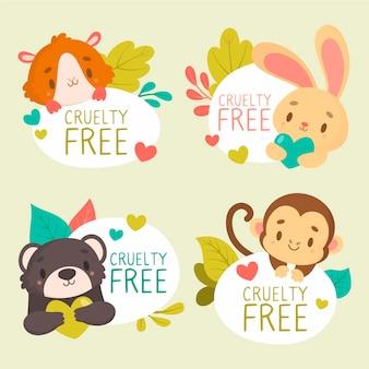 Wreedheid gratis badge-collectie Gratis Vector