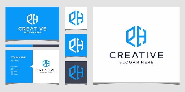 Wte-logo-ontwerp met sjabloon voor visitekaartjes