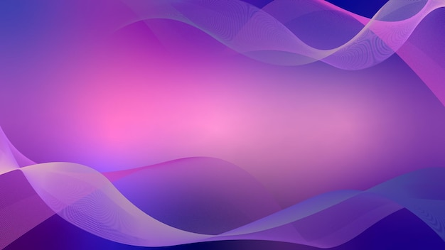 Wuivende golvende lijnen abstracte golfachtergrond roze en blauw met gele strepen
