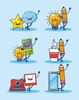 Wuivende objecten stickers