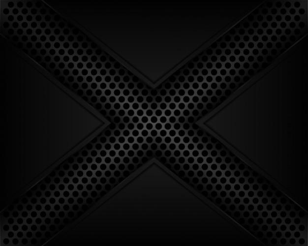 X-lijn schaduw donkergrijze achtergrond