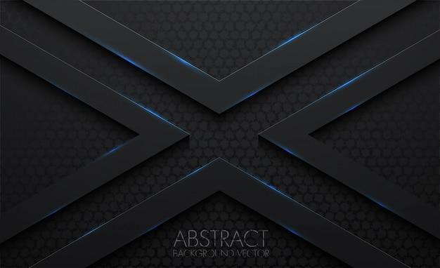 X-patroon abstracte 3d zwarte achtergrond