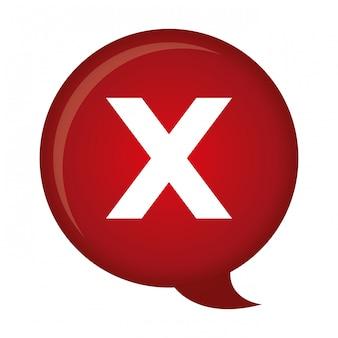 X pictogramafbeelding afwijzen