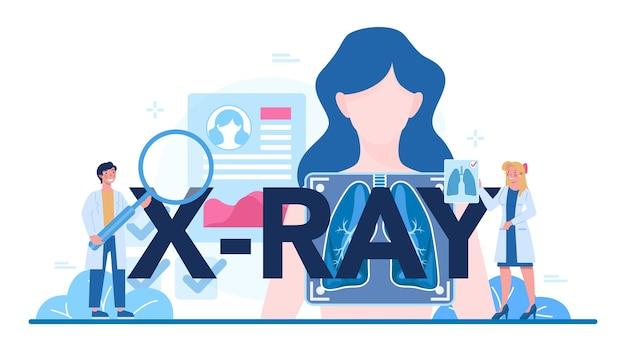 X-ray typografische illustratie.