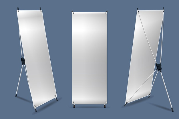 X stand banners illustratie