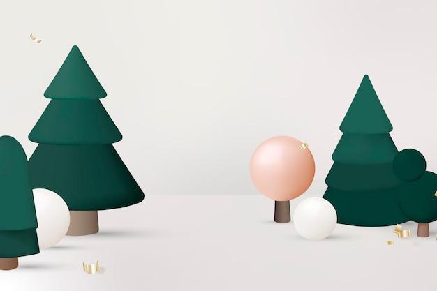 Xmas achtergrond, feestelijk 3d-ontwerp, seizoensgroeten vector