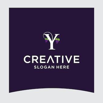Y druif logo ontwerp