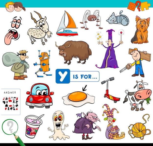 Y is voor educatief spel voor kinderen
