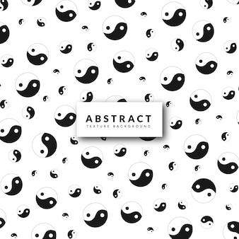 Yin en yang patroon achtergrond