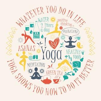 Yoga achtergrond met citaat