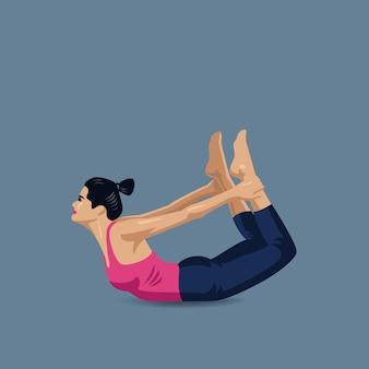 Yoga boog houdingen