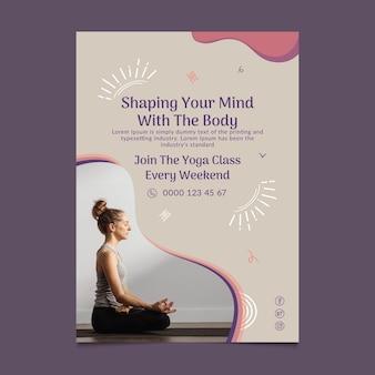 Yoga cursus poster sjabloon