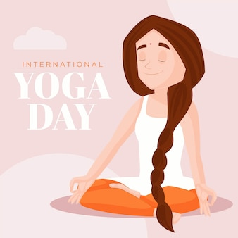 Yoga dag banner ontwerpsjabloon