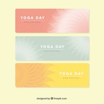 Yoga dag banners collectie