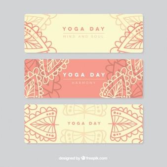 Yoga dag banners
