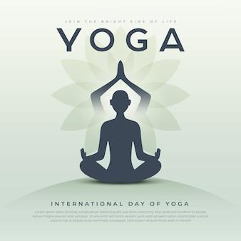 Yoga dag creatieve sjabloon