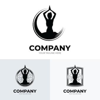 Yoga en meditatie logo ontwerp inspiratie logo