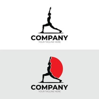 Yoga en meditatie logo ontwerp inspiratie
