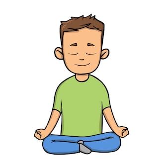 Yoga en ontspanning in plat ontwerp
