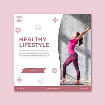 Yoga flyer vierkant