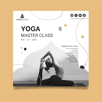 Yoga folder sjabloon