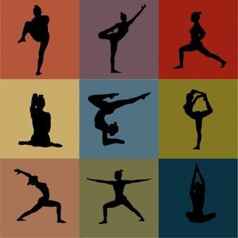 Yoga houdingen collectie