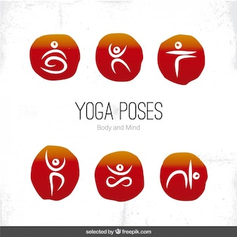 Yoga houdingen pictogrammen