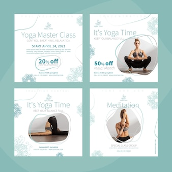 Yoga instagram posts collectie