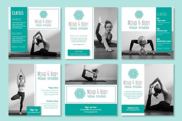 Yoga instagram posts-collectie